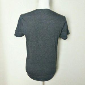 Bob Ross Shirts - Men's Gray Bob Ross Funny Graphic Tee Shirt